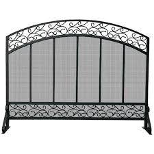 wrought iron fireplace screen for