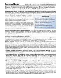 Manager Resume Examples Extraordinary Resume Sample 48 Senior Telecommunications EngineeringOperations