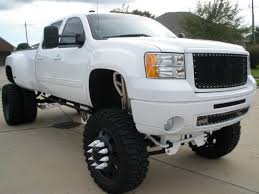 Completely Modified, Custom 07 Frost White GMC Denali 3500 4x4 4 ...