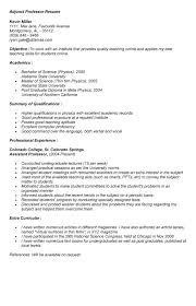 College Adjunct Professor Resume Example - Starengineering