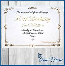 B Day Invitation Cards Details About 10 X Personalised 50th Birthday Party Invitation Cards Invites With Envelopes