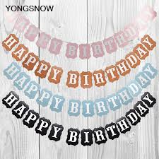 Us 2 65 Happy Birthday Paper Garland Baby Shower Kids Birthday Decoration Hanging Bunting Banners String Streamer Flags Party Supplies In Banners