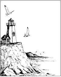 Small Picture Coloring a lighthouse and boats since a porthole picture
