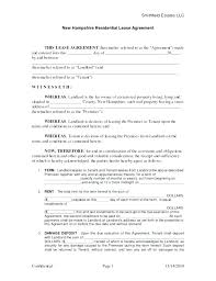 Seasonal Apartment Residential Lease Agreement Template Sample ...