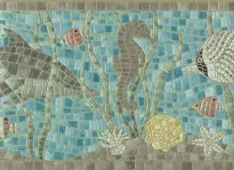 878288 under the sea creatures mosaic wallpaper border