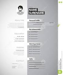 creative cv template paper stripes stock vector image creative cv template paper stripes