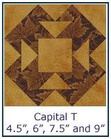 Free Quilt Block Patterns Library & ... Capital T quilt block tutorial ... Adamdwight.com
