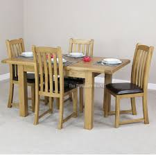 Round Extending Oak Dining Table And Chairs Starrkingschool - Expandable dining room table sets