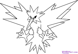 Small Picture How to Draw Zapdos Step by Step Pokemon Characters Anime Draw