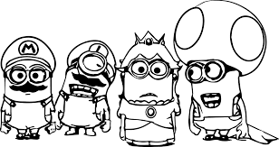 Small Picture Super Mario Minions Coloring Page Wecoloringpage