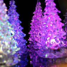 Light Source Christmas Lights 7 Pcs Acrylic Led Crystal Christmas Tree Led Night Light