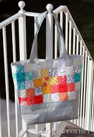 Sew Fresh and Scrappy! Sew this Patchwork Tote | Tote bag ... & Sew Fresh and Scrappy! Sew this Patchwork Tote. Quilted Tote BagsPatchwork  BagsBag TutorialsSewing ... Adamdwight.com