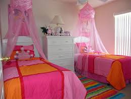 Pink And Orange Bedroom With Disney Ideas