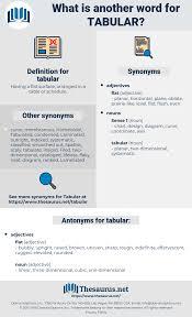 Table Chart Synonym Synonyms For Tabular Antonyms For Tabular Thesaurus Net