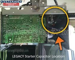 legacy garage door openerreplace the starter capacitor on a garage door opener