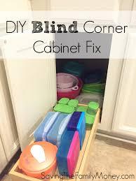 Corner Kitchen Cabinet Solutions Diy Blind Corner Cabinet Fix Kitchen Best Of Saving The Family