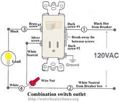 how to wire switches combination switch outlet light fixture how to add an outlet to a switch at Combination Switch Wiring Diagram