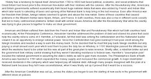 between and the new government of the united states  essay on between 1783 and 1800 the new government of the united states faced the same