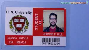 Youtube Id Identification Card College For Designer Cards Software - Student Using Design