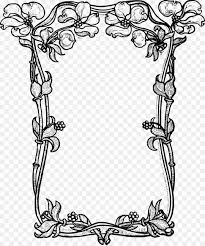 vector borders png picture frames flower black and white clip art vec