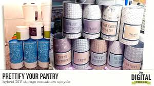 prettify your pantry hybrid storage containers diy makeup