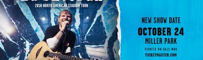 Ed Sheeran Concert At Miller Park Rescheduled For Wednesday
