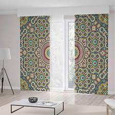 Amazon.com: Blackout Curtains,Moroccan Decor,Theme Home Decor Dining ...