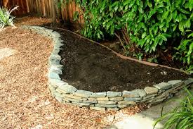Small Picture A freshly built dry stack stone wall raised bed ready for