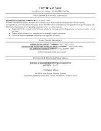 Resume Templates Administrative Specialist Unusual Objective