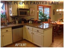 the purple painted lady kitchen before after susan old white 2
