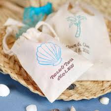 beach wedding candy favor bags