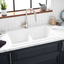 33 Algren Double Bowl Drop In Granite Composite Sink Cloud White