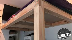 Plans For A Loft Bed Loft Bed Construction Diy Build It Yourself 4k Youtube