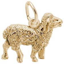 Rembrandt Sheep Charm 10k Yellow Gold
