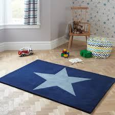blue kids rug stars