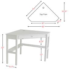 white corner desk. Brilliant Corner Alexander White Corner Desk Dimensions To