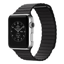 a l1 1 apple watch leather band in black