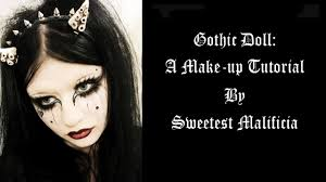 gothic doll make up tutorial