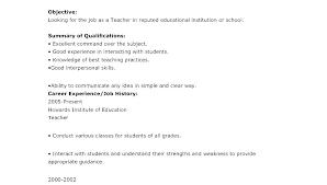 Sample Cv For A Teacher Best Cv For Physics Teacher Resume Teaching Sample Math Fearsome