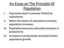 essay population malthus essay population