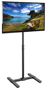 3 Panel Display Stand Extraordinary Amazon VIVO TV Display Portable Floor Stand Height Adjustable