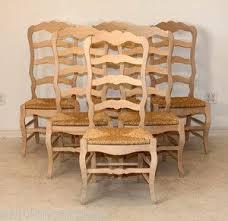 tall kitchen chairs unfinished set of  country french tall ladder back side chairs with ru