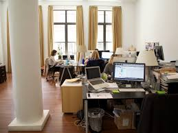 small office space 1. Part-of-what-makes-the-space-feel-less- Small Office Space 1
