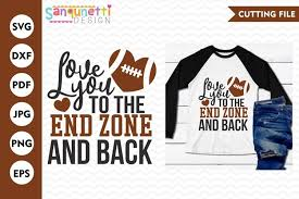 Check out our new jersey svg selection for the very best in unique or custom, handmade pieces from our digital shops. Love You To The End Zone And Back Football Svg Sports Svg 109820 Cut Files Design Bundles