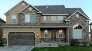 Stones For Home Exterior Alluring Like The Front Door & The Angled Garage  Corners Exterior Brown