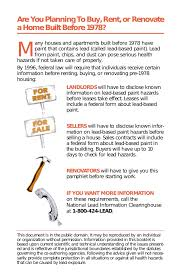 ohio lead based paint disclosure form city of salina booklet lead based paint