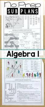 Algebra 1 No Prep Sub Lesson | Substitute teacher, Algebra and ...