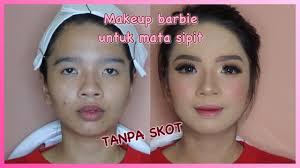 makeup barbie untuk mata sipit tanpa skot asayunda makeup