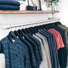 top shelf wall mounted clothing rack