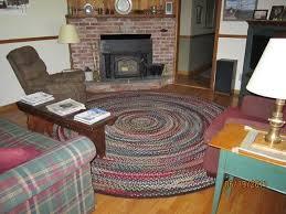 custom made family room braided rug